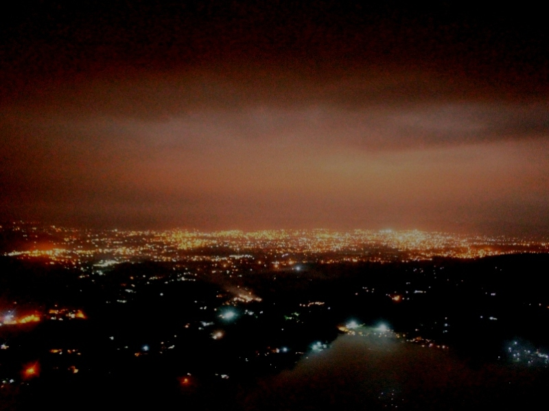 Dehradun Night Lights-A View from Mussoorie