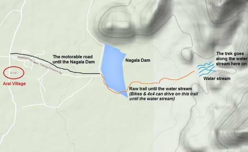 Nagalapuram Trek Map for reference