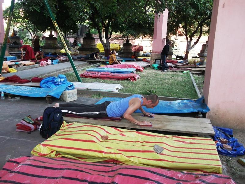 A devotee offering prayer