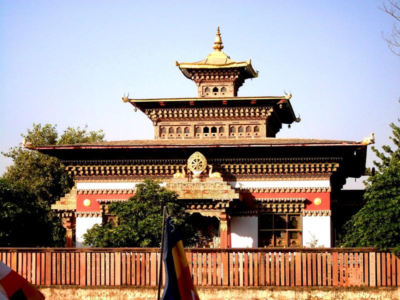One of the monasteries around, Bodhgaya