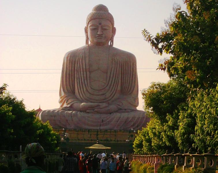 80 feet high statue of lord Buddha, Bodh gaya