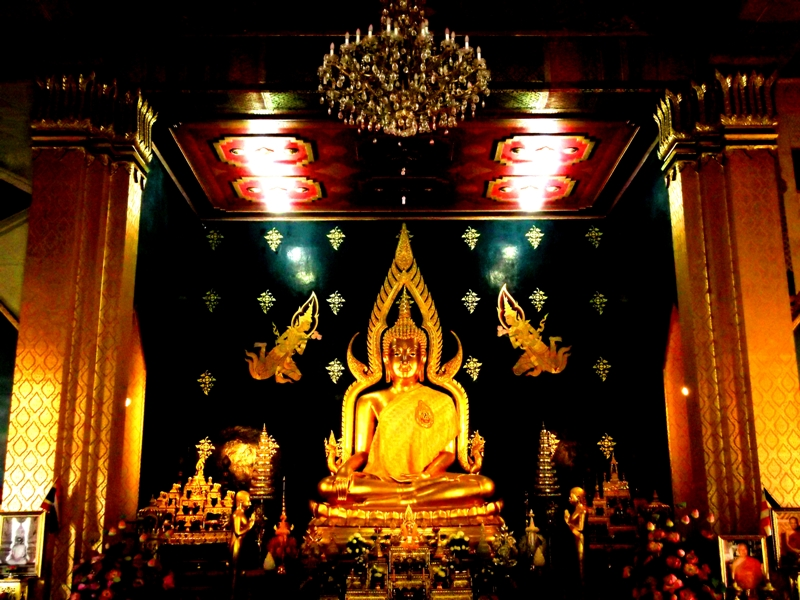 Statue of Buddha inside one of the temples