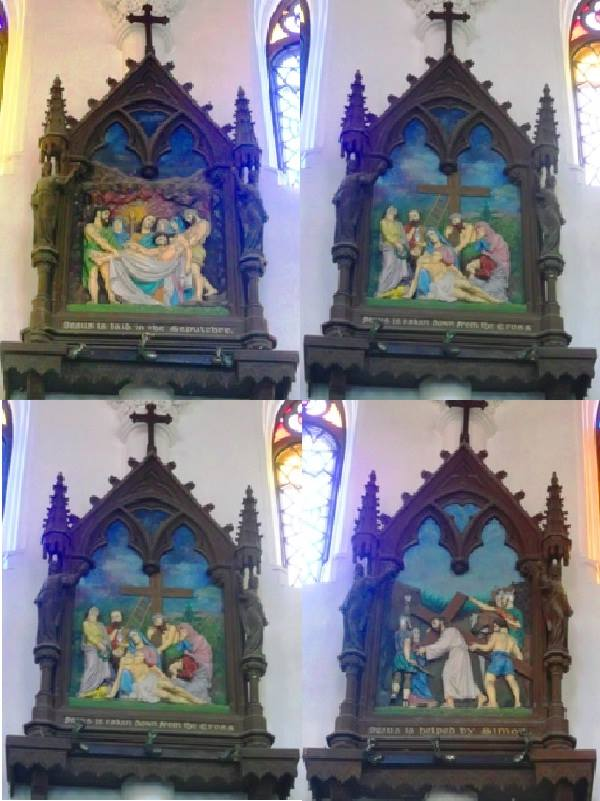 Differest stages of life on the Jesus at santhome basilica