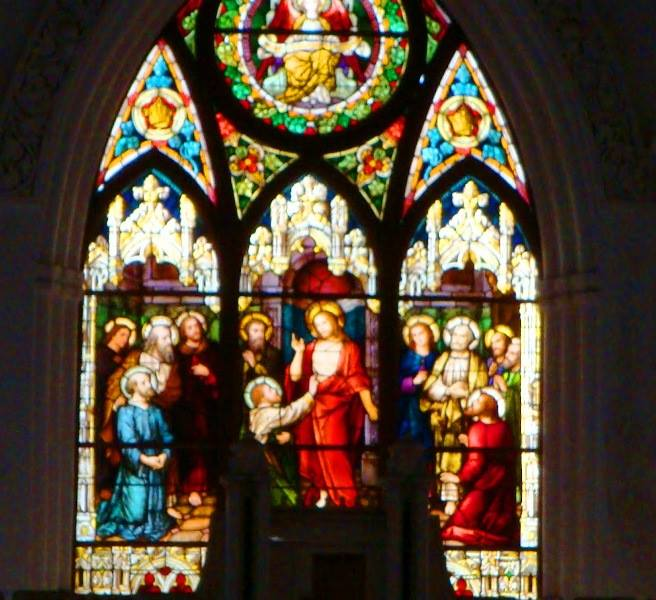 Painted glass, santhome basilica, chennai
