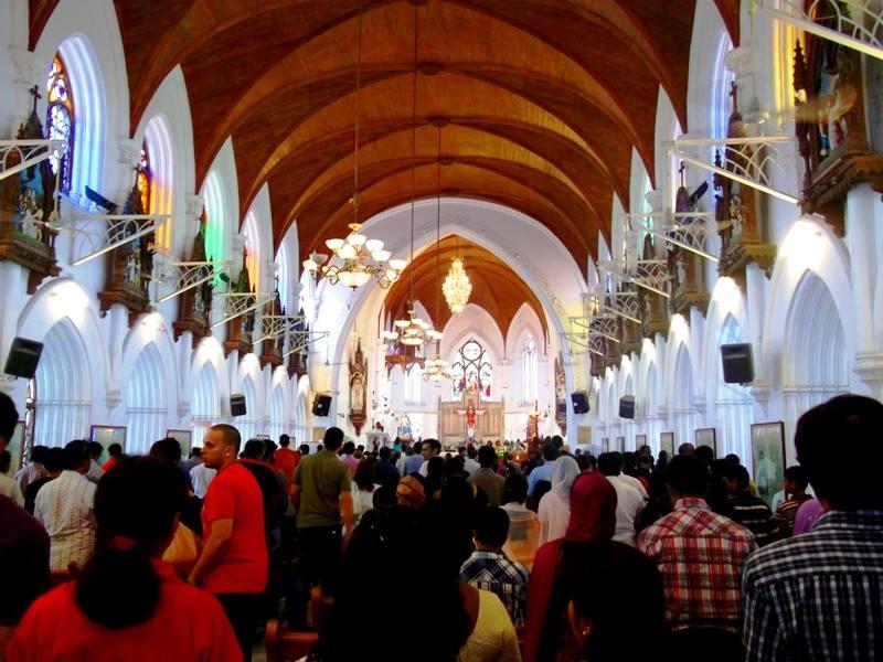 central altar of santhome basilica