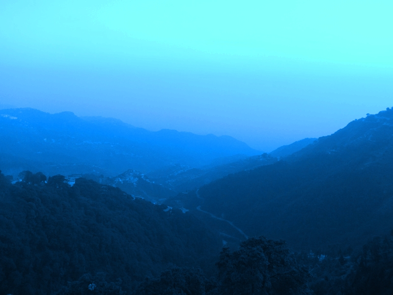 Mussoorie early morning from Nag devta temple