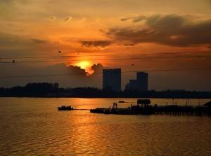 Sunset, muttukadu boat house, chennai