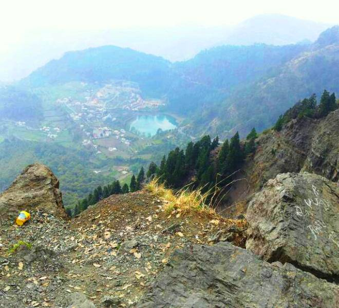 Nainital from a distance