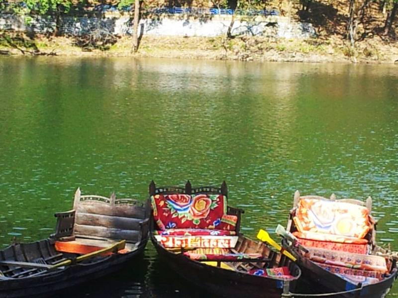 Boats in Naini lake