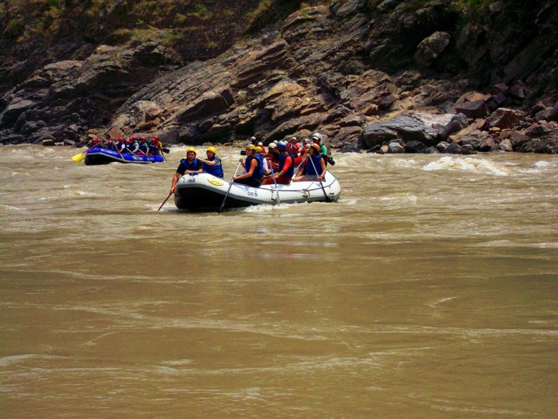 A raft in Ganga