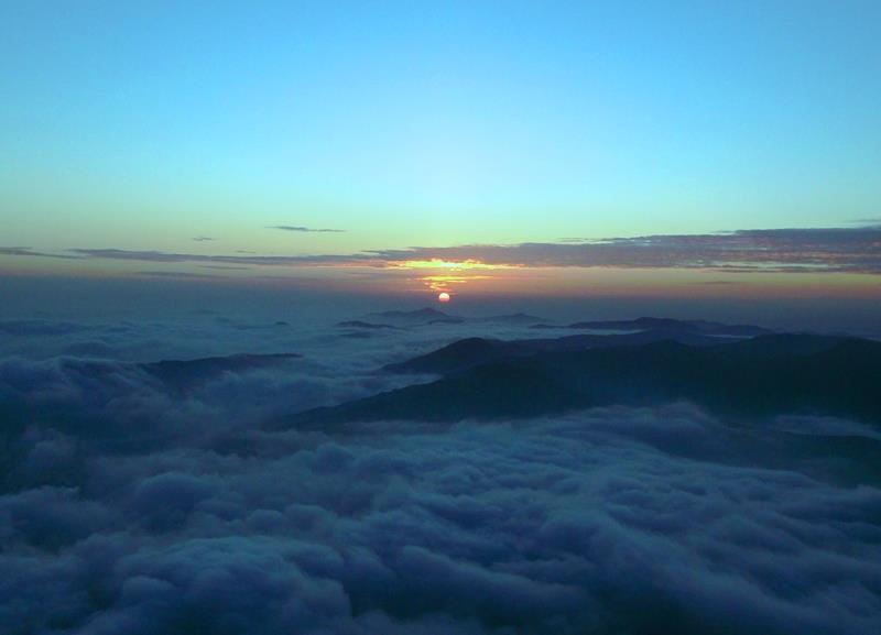 sunrise at kumara parvatha