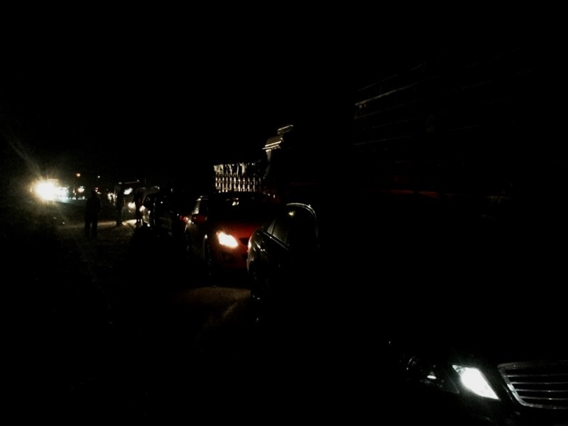 Vehicle queue at Bandipur entry in morning