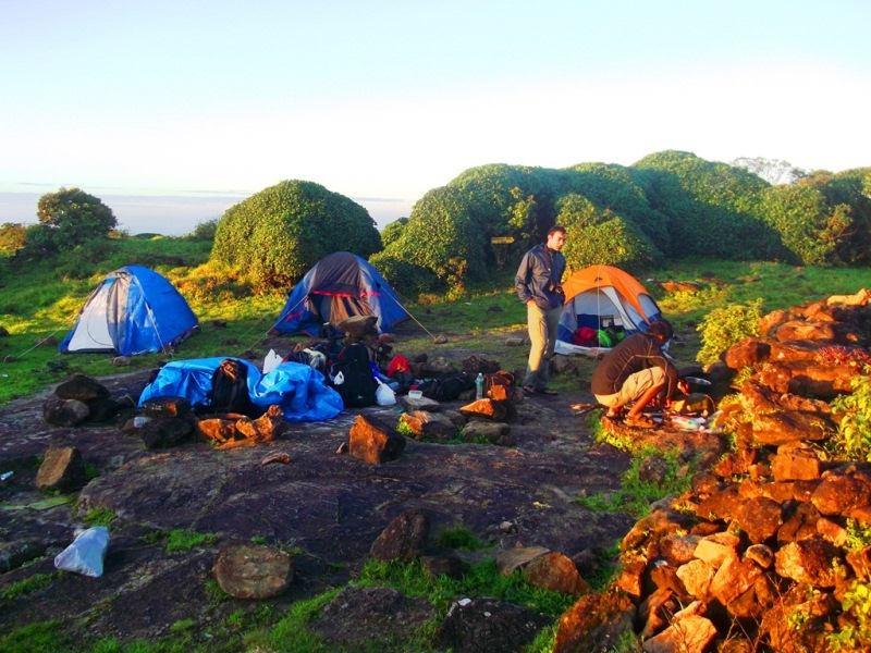 camping tent at kumara parvatha