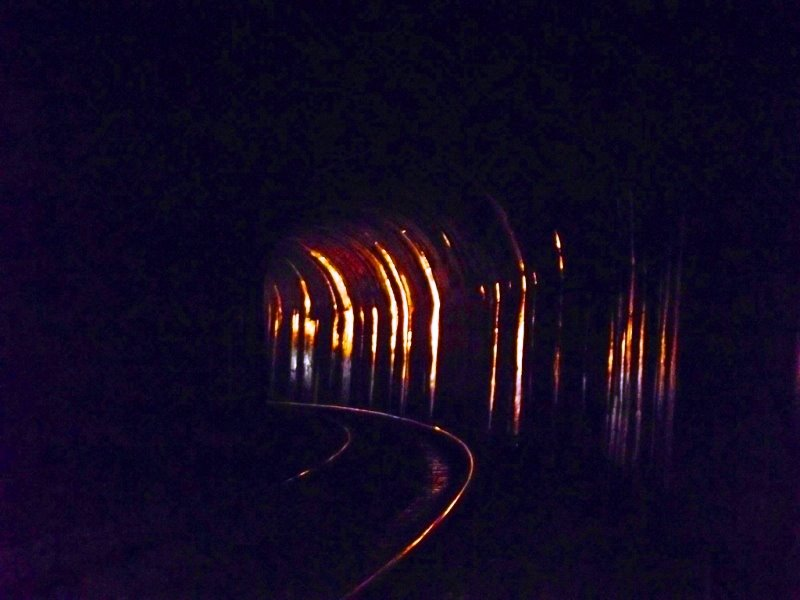 Train inside a tunnel while I was inside the tunnel, sakleshpur trek