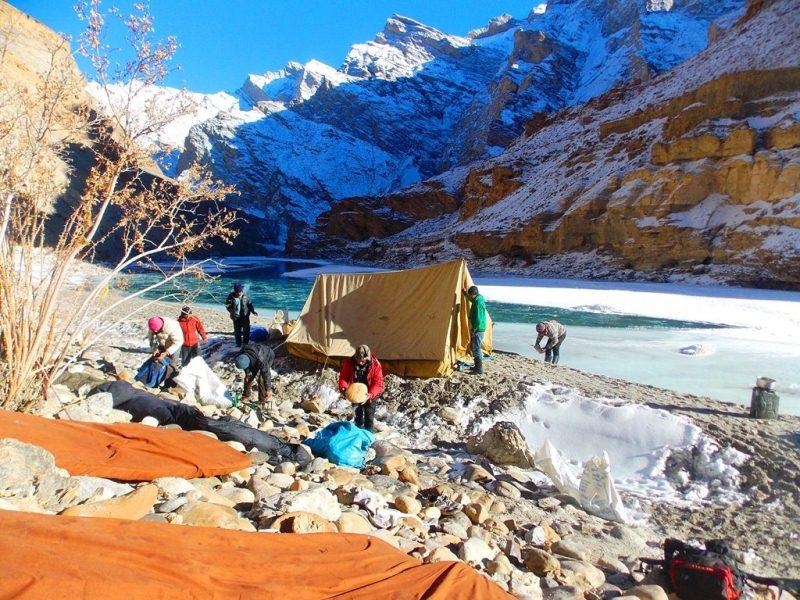 camping Zanskar valley, chadar trek