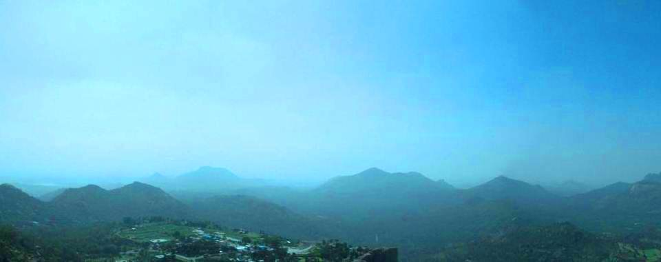 Devrayanadurga hill top panoramic view