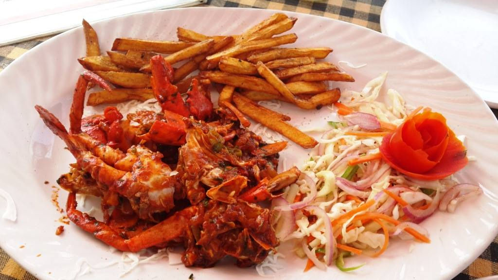 Fried crab in Goa
