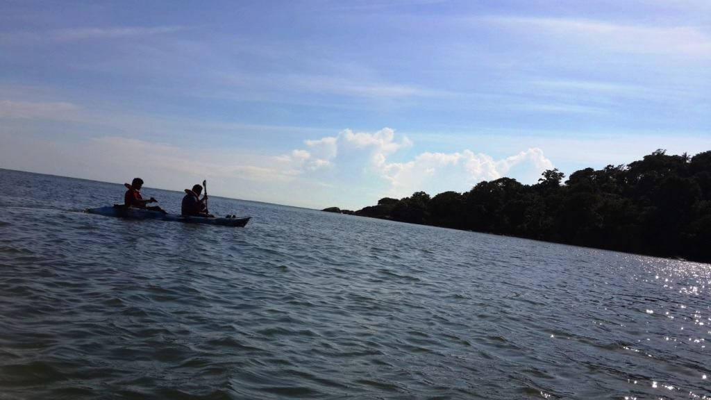 Kayaking in Goa to an island