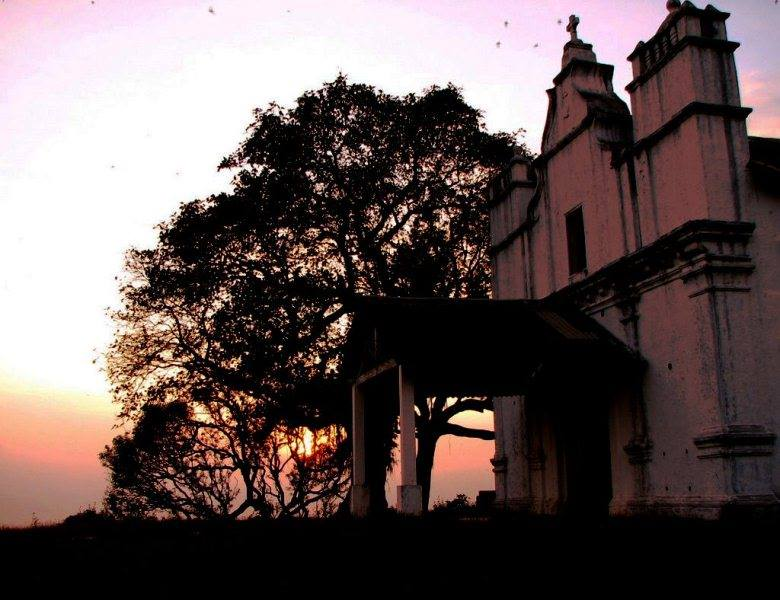 Three Kings Church in Goa at sunset