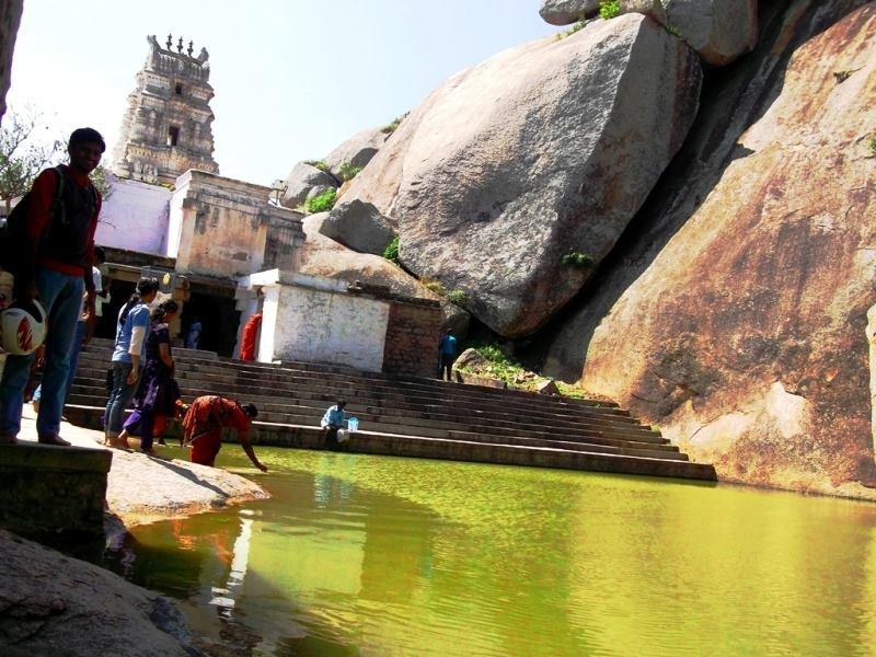 pond east of Devarayanadurga temple