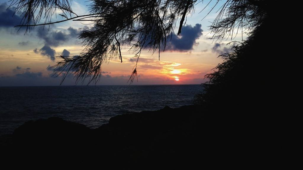 vivid sunset in Goa