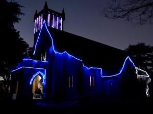 Christ Church, Kasauli at Night