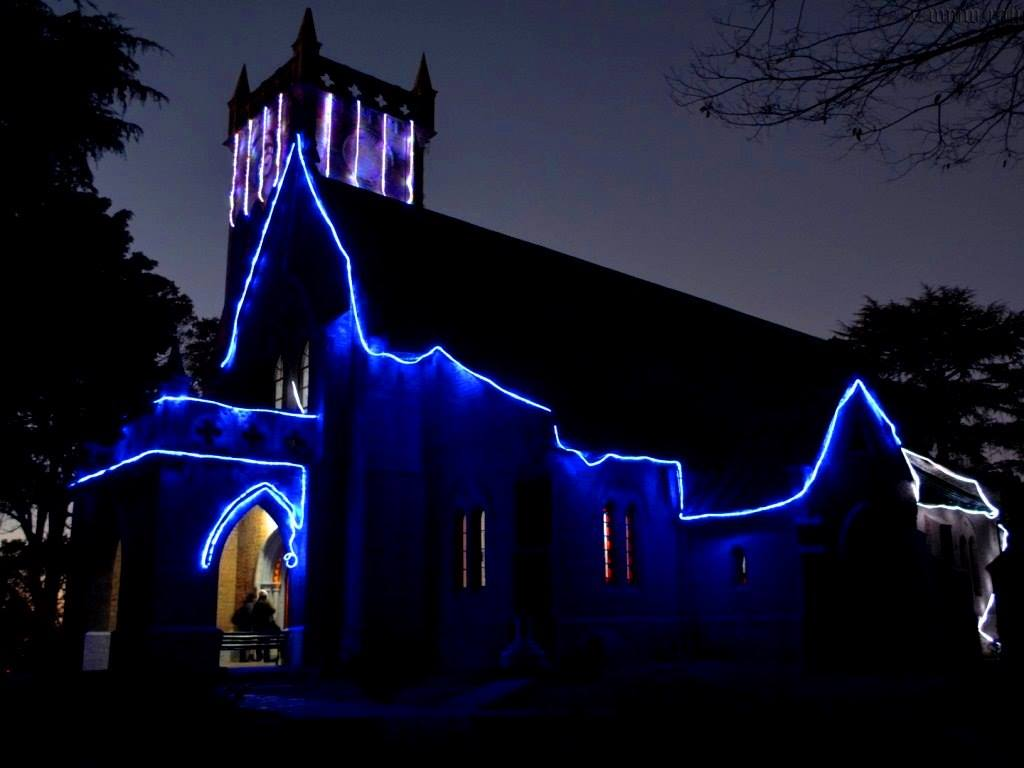 Christ Church, Kasauli at Night