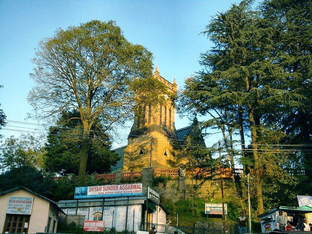 Christ Church, Kasauli at day