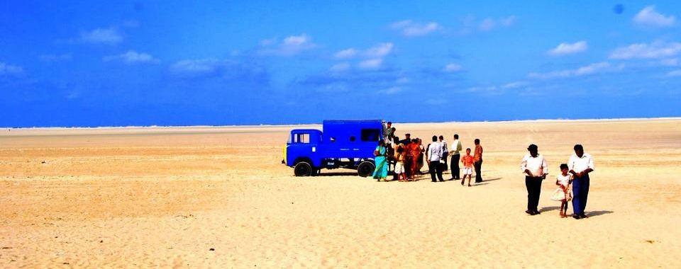 Dhanushkodi, the southern tip of Rameshwaram island