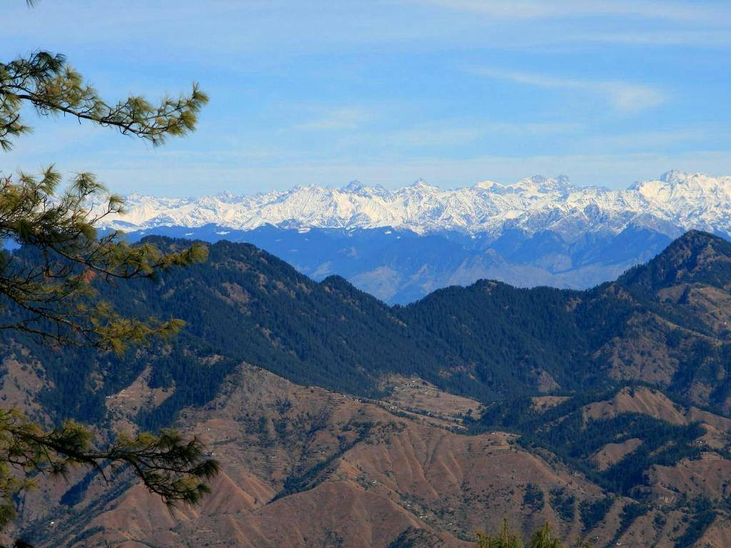 View of Himalayas from Kufri, Source Internet