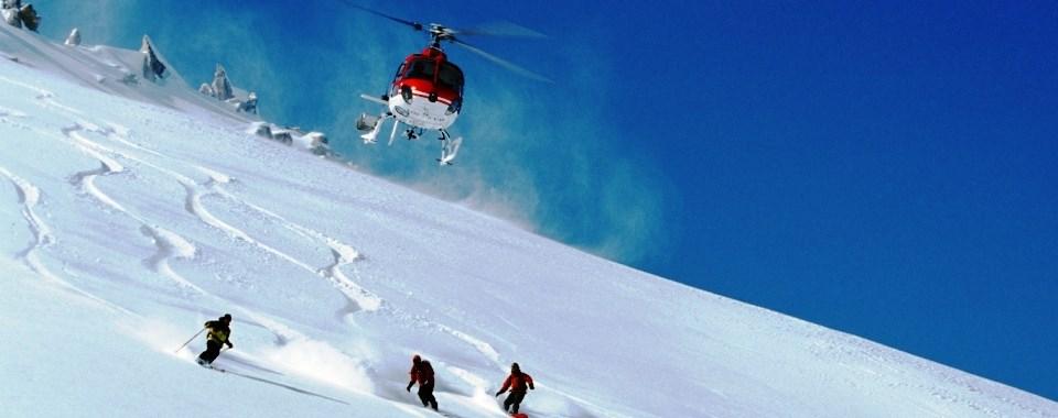 heli-skiing at auli