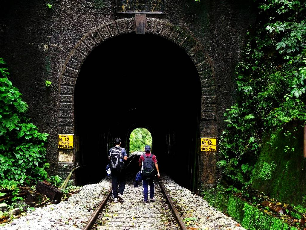 A 100 meters tunnel on sakleshpur railway trek