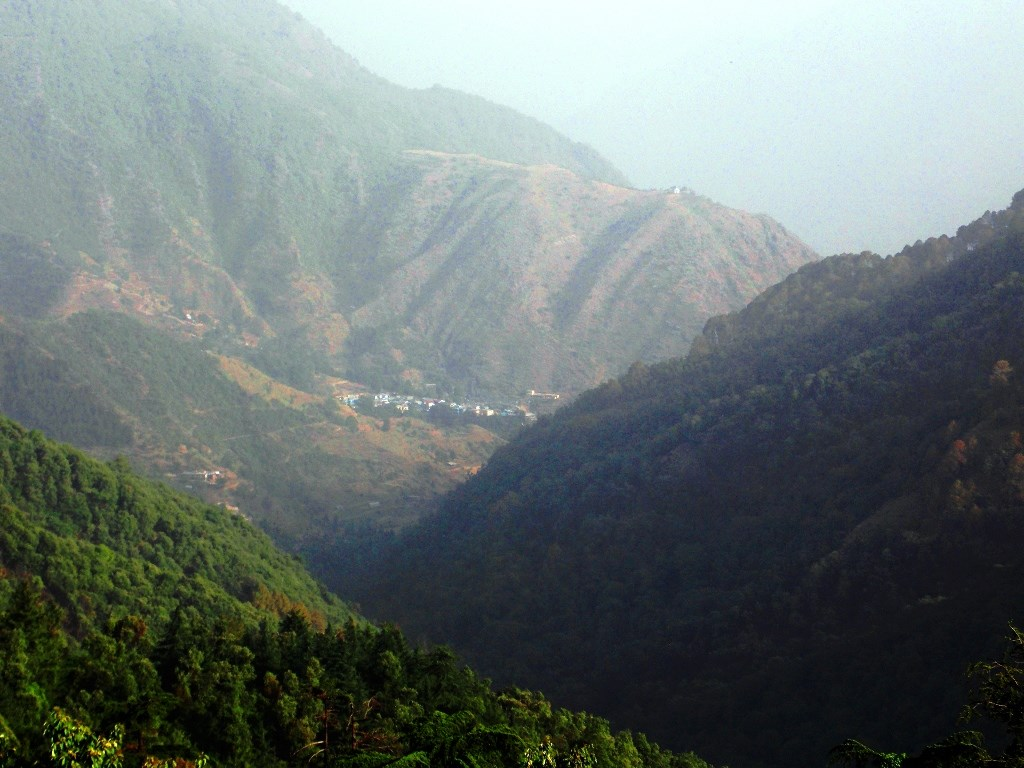 A Garhwal village from Mussoorie