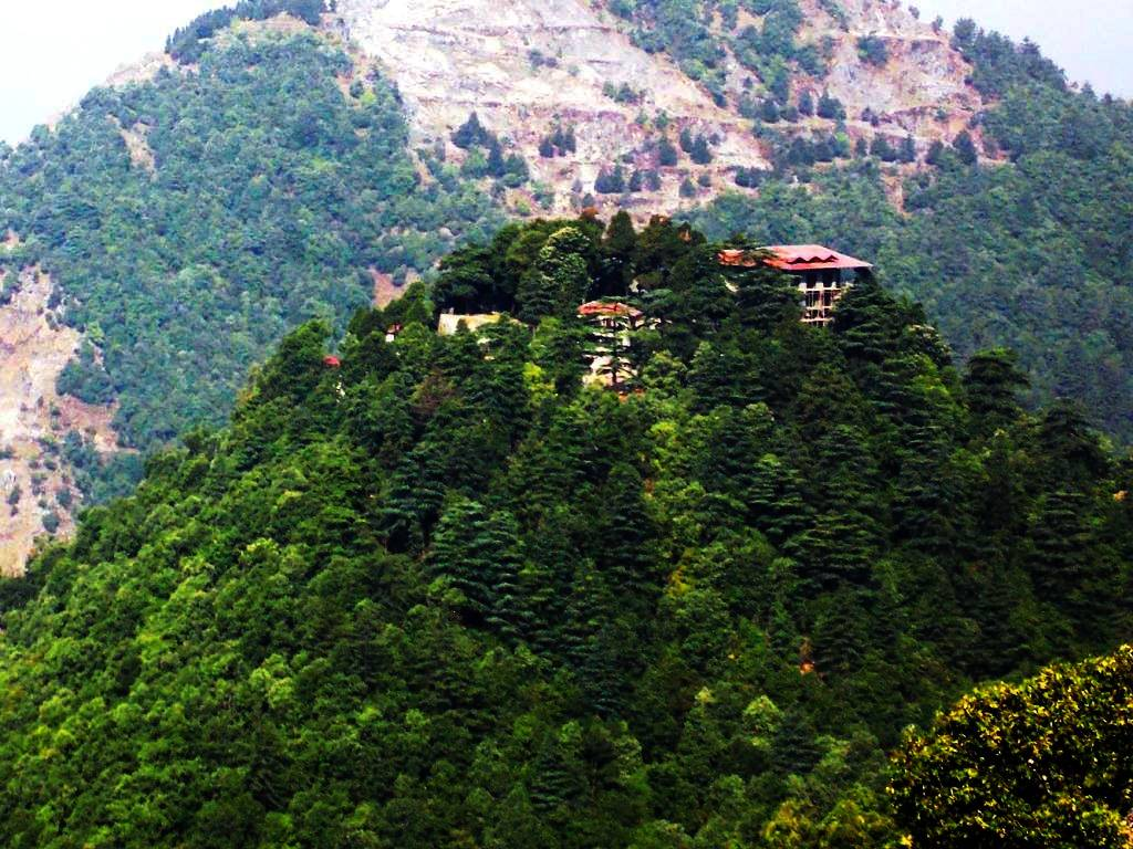 A house estate outside Mussoorie  on top of a hill