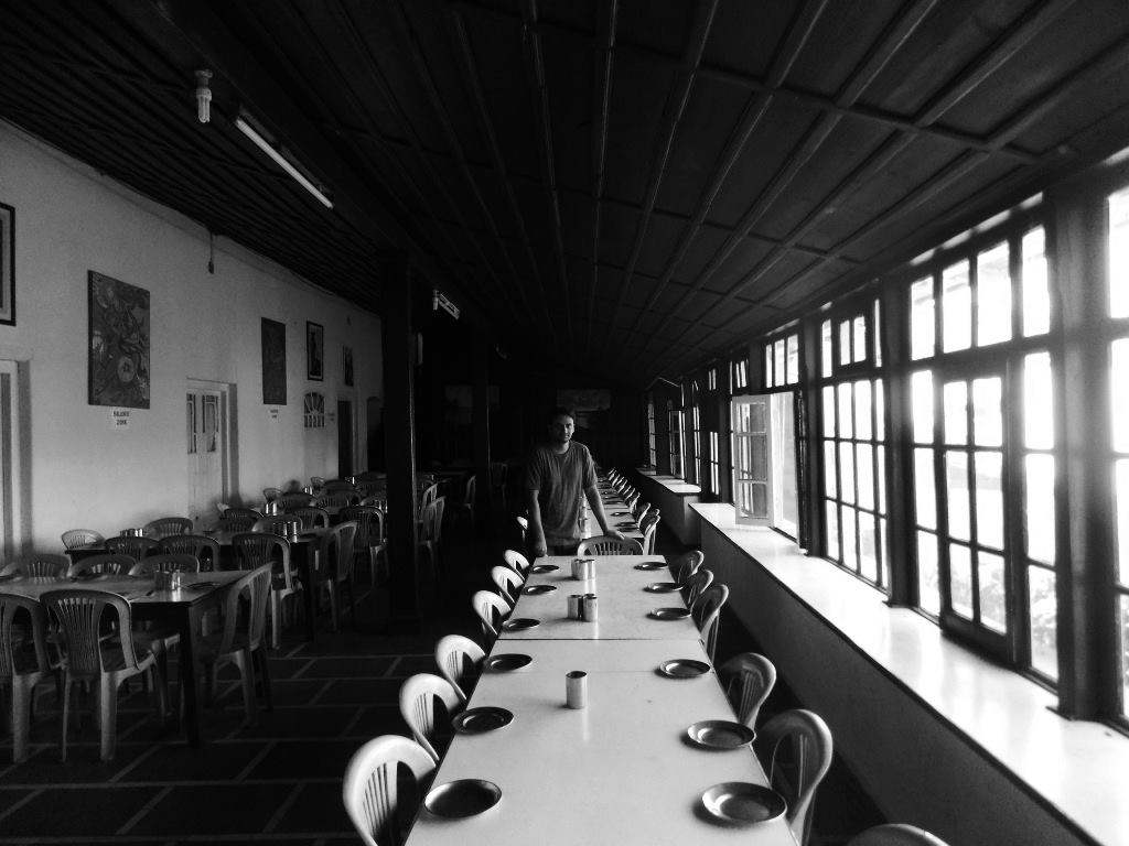 Dining hall of a school in Mussoorie