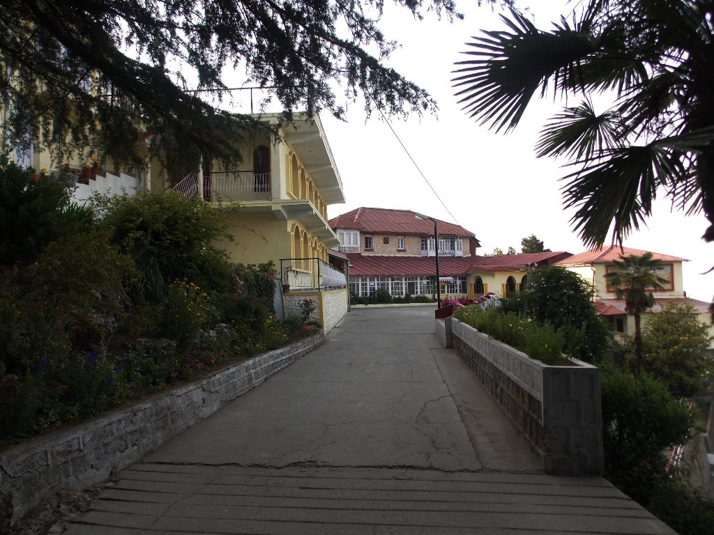 Entrance to a school in Mussoorie