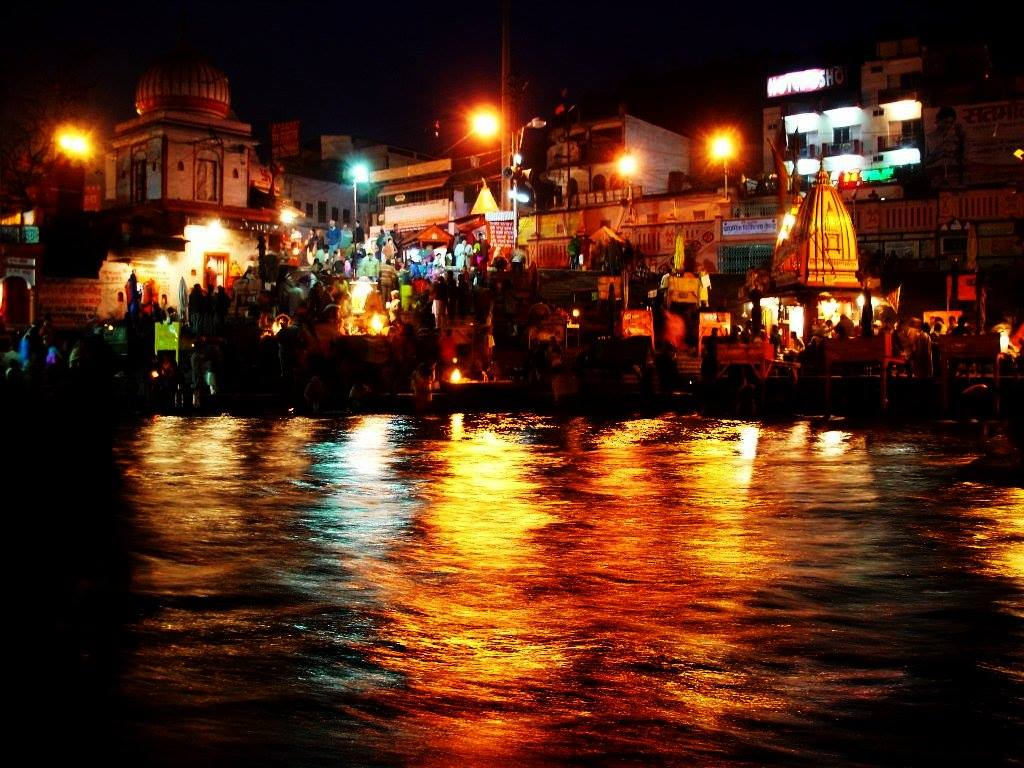 Ganga aarti in evening at Haridwar