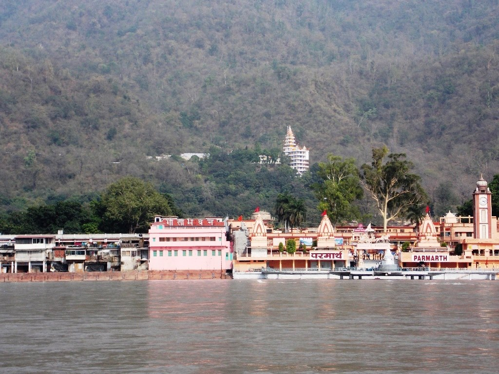 Ganga before flood in rishikesh