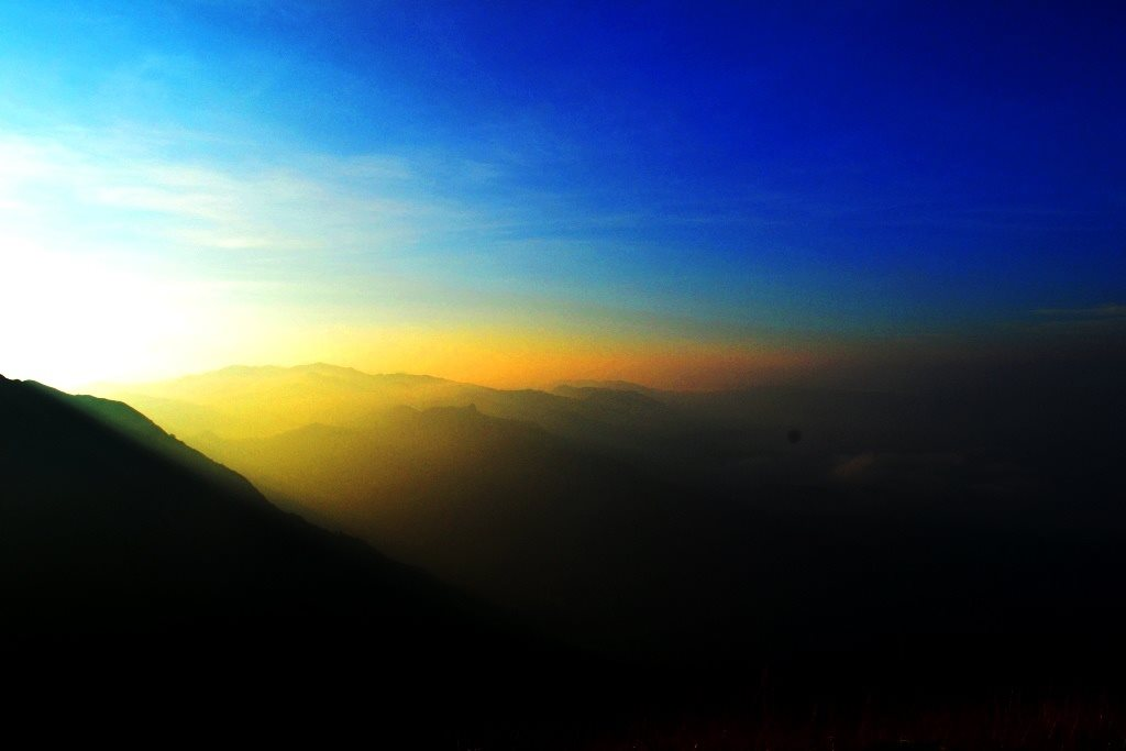 Just before sunrise from Shesha parvatha on Kumara Parvatha trek