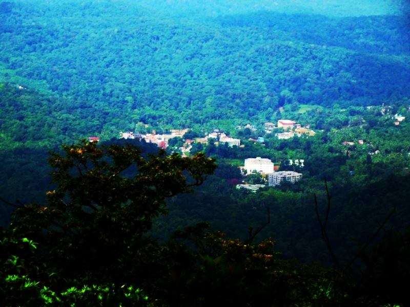 Kukke SUbramanya as seen from Kumara Parvatha trek