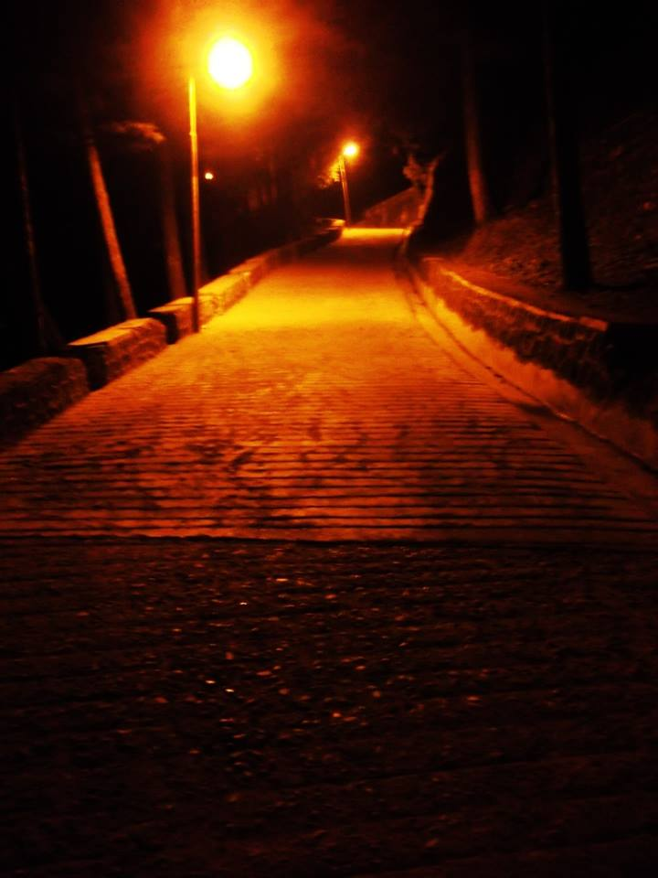 Lonely street of Mussoorie at night