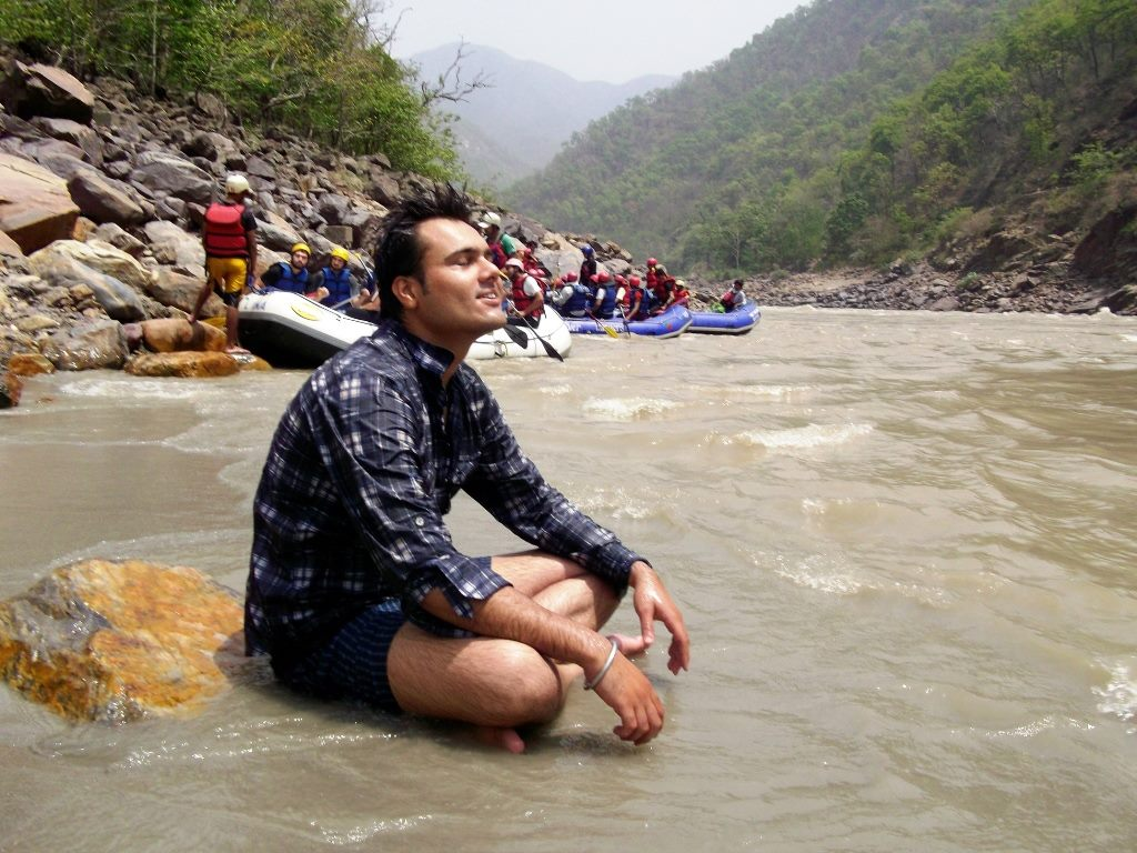 Meditation time beside Ganga