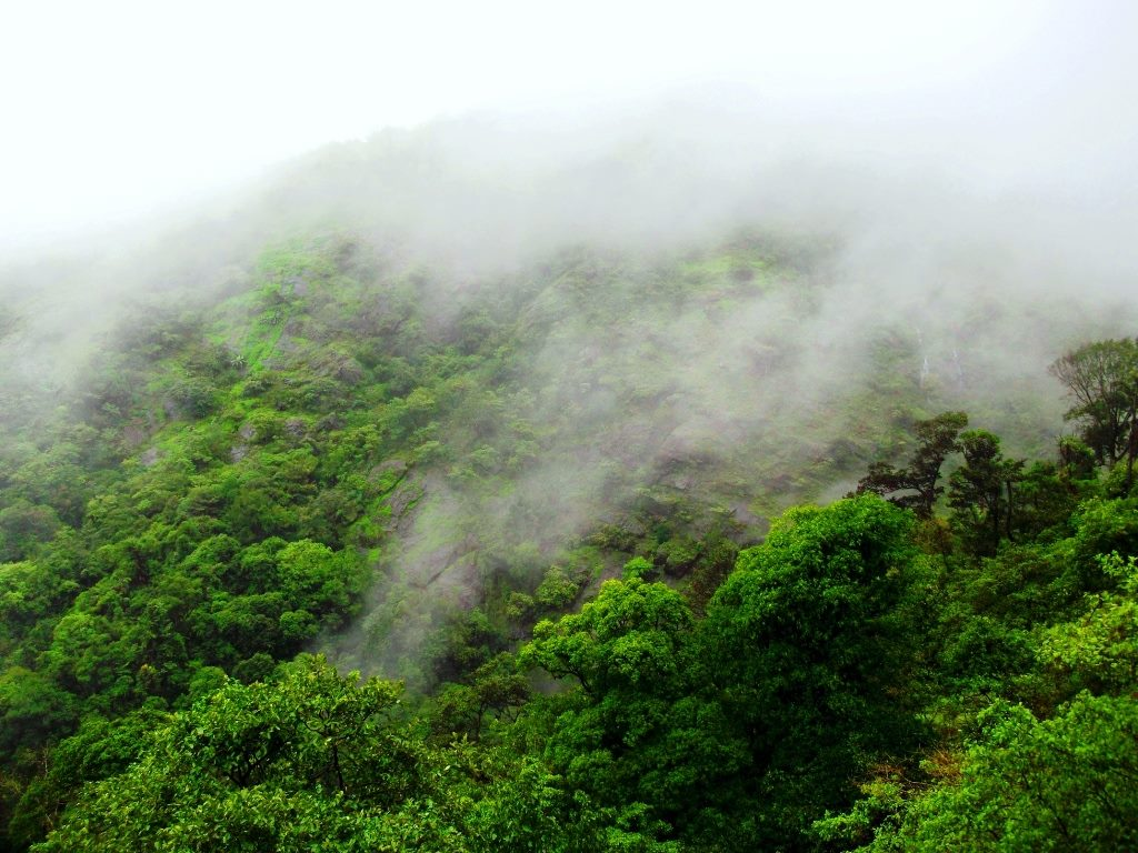 Monsoon clouds, western ghats on Sakleshpur railway trek