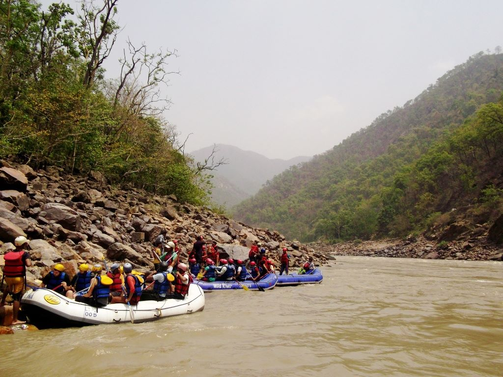 Rafting in Ganga near Rishikesh