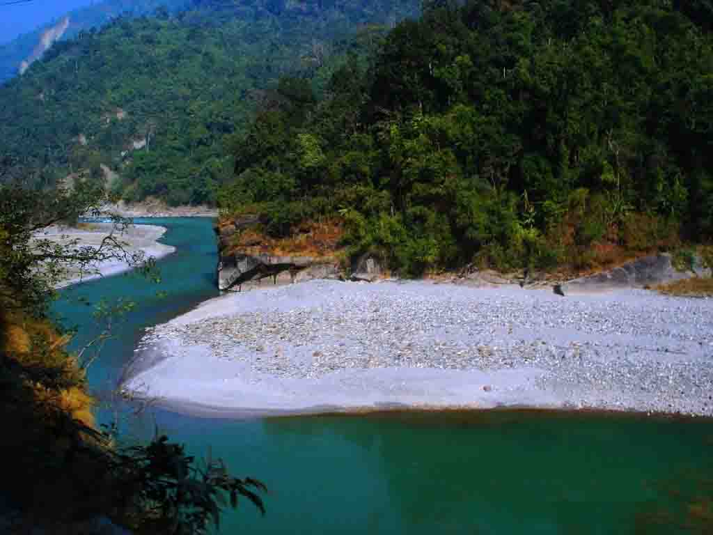 River Teesta on the way siliguri to Gangtok