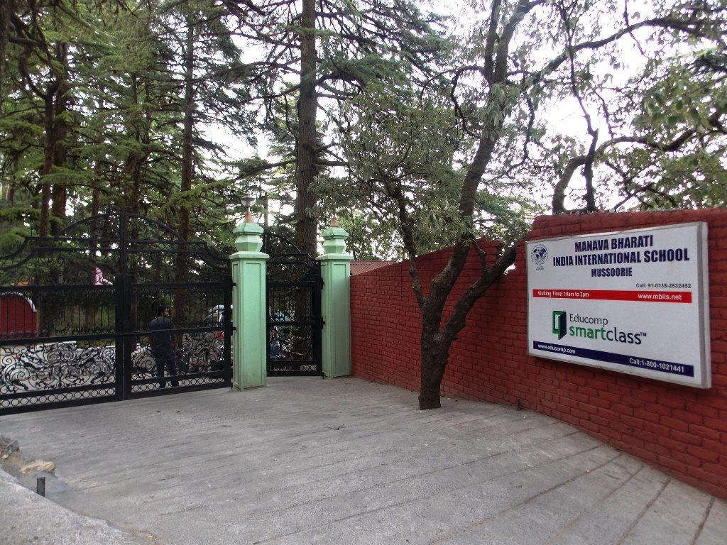 School entrance of a school in Mussoorie