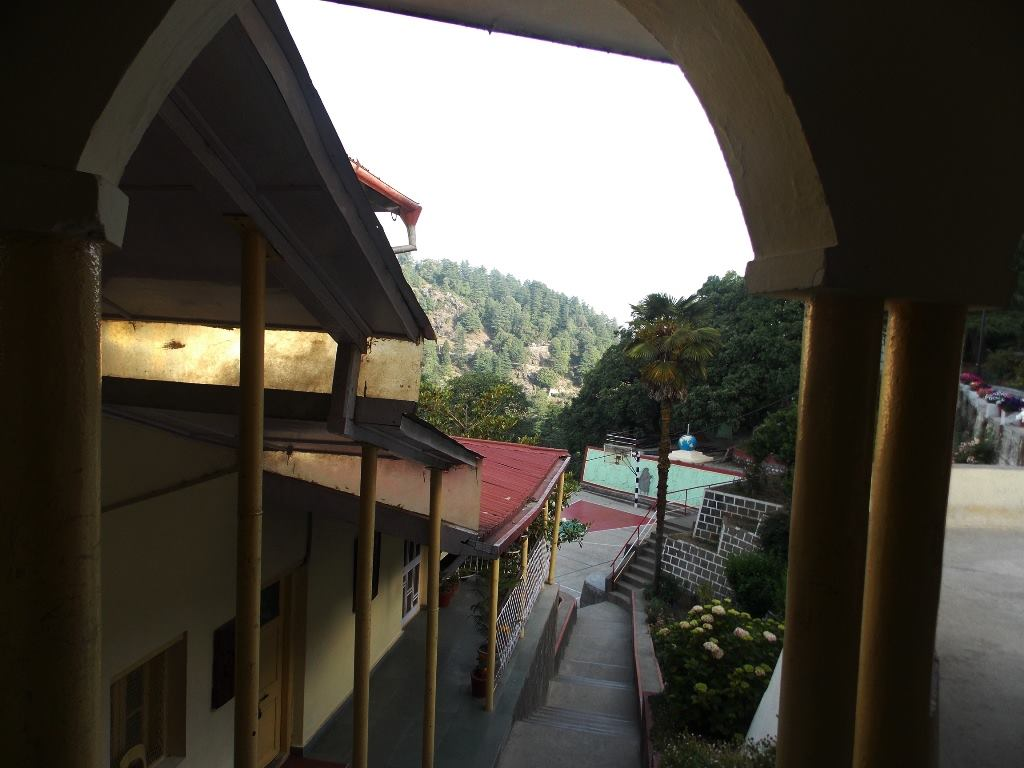 Storeyed structure of a school building in Mussoorie