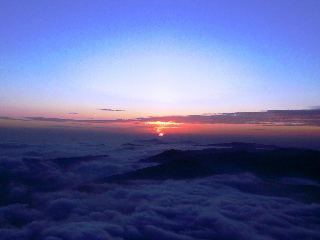 Sunrise from Kumara parvatha
