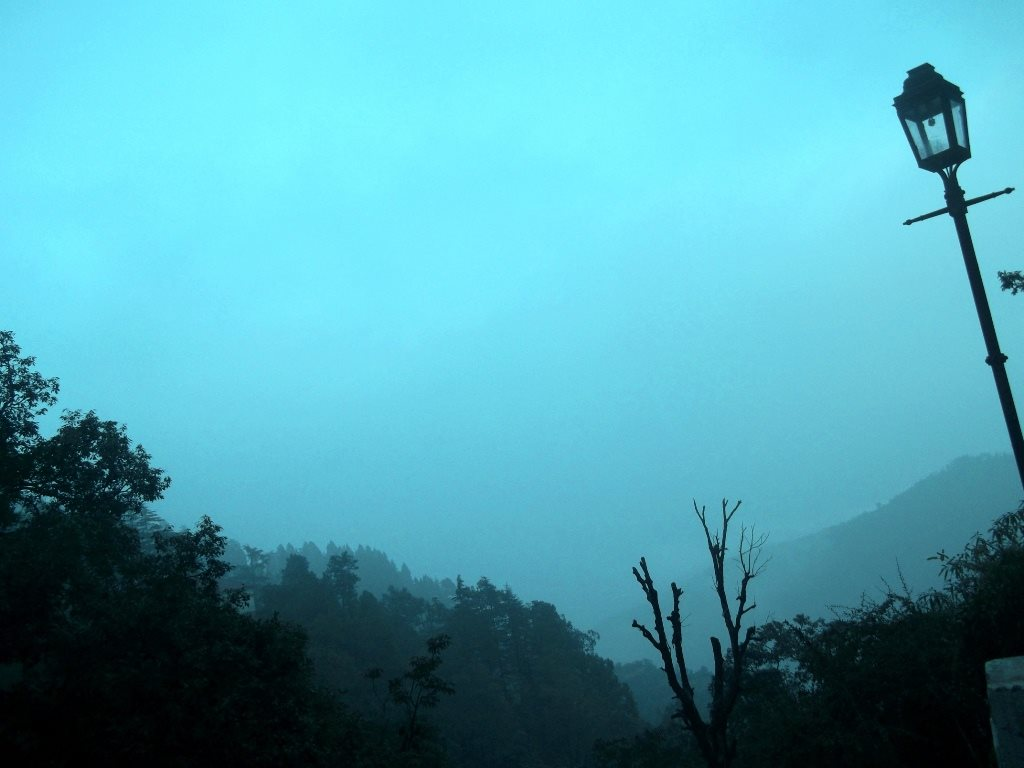 Valley in Mussoorie at dusk