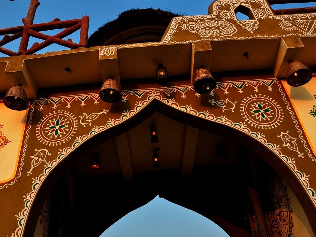 Welcome gate at Chokhidhani chennai